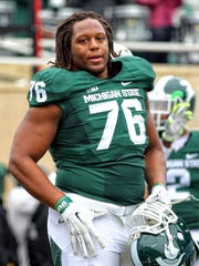 Donavon Clark started 33 games for the Spartans.
