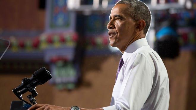 President Obama in Kansas City, Mo., on July 30.