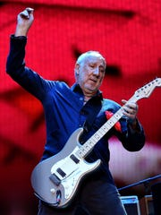 Pete Townshend of The Who performs during Desert Trip in 2016 at the Empire Polo Field in Indio, Calif.