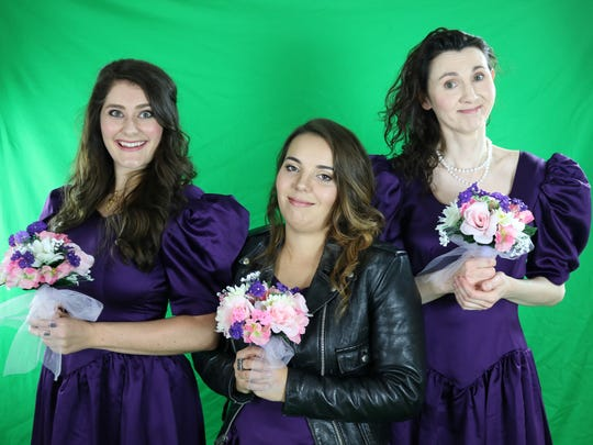 "Brianna Bernard, Audrey MacNeil and Merritt Beischel are among the title characters in ""Five Women Wearing the Same Dress,"" which runs Jan. 25-Feb. 11 at the Warsaw Federal Incline Theater, 801 Matson Pl., East Price Hill. The other two women in the cast are Talia Noelle Zoll and Erin Carr. The sole male role is played by Matt Krieg. Dee Anne Bryll directs."