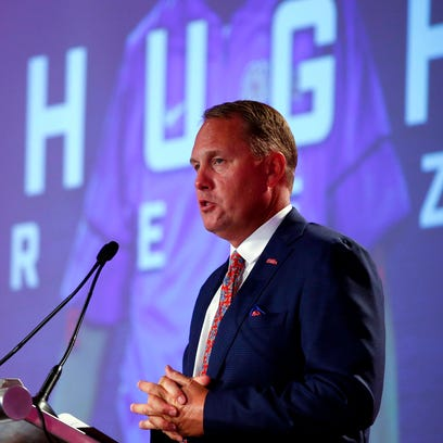 Mississippi NCAA college football coach Hugh Freeze