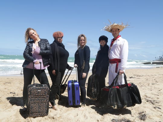 "The ""Full Frontal"" team of Alanna Harkin, left, Ashley"