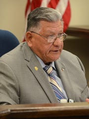 "Pct. 2 Nueces County Commissioner Joe A. ""JAG"" Gonzalez speaks during a prior meeting of the court. (File photo)"