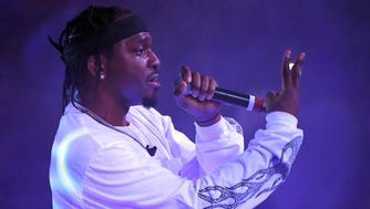 Rapper Pusha T performs during the debut of his residency at Drai's Beach Club - Nightclub at The Cromwell Las Vegas in Las Vegas.
