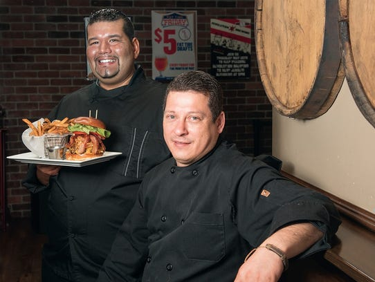 (From left) Jeremiah Echeandia, executive chef, and