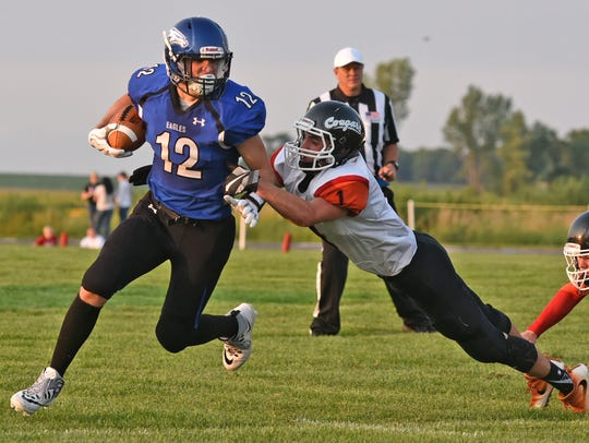 Irene-Wakonda quarterback Trey King has accumulated 2,297 all-purpose yards this season with 60 total touchdowns.