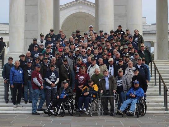 Saturday, November 18, 2017--Over 100 veterans of the