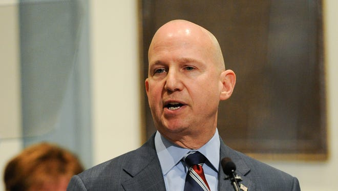 Governor Jack Markell, shown during his State of the State address last month, was among Democratic governors who met Friday with President Obama.