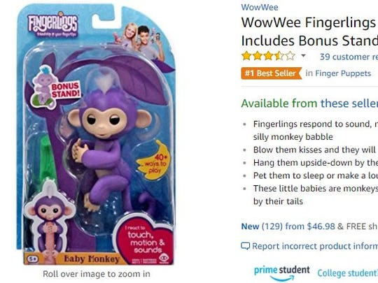 A Fingerling monkey on Amazon.