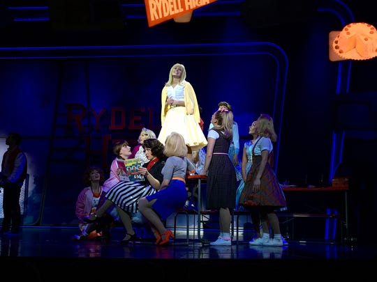 "Cedar Crest graduate Katrina Diehm sings during ""Summer Nights,"" in the Royal Caribbean Cruise Line's production of ""Grease."""