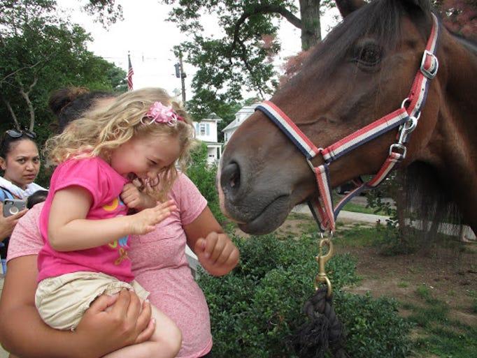 Julia Pimentel and her new friend, Zorro the Horse,