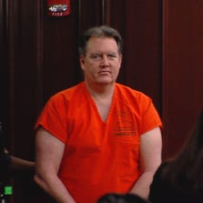 Michael Dunn appears in court Monday for a brief hearing.