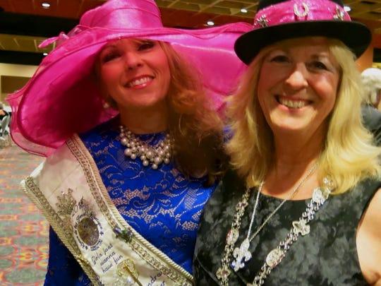 Cassandra Glausier and Sandy Franks at Les Femmes Coronation.