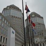The twin towers of Procter & Gamble's worldwide headquarters in downtown Cincinnati.