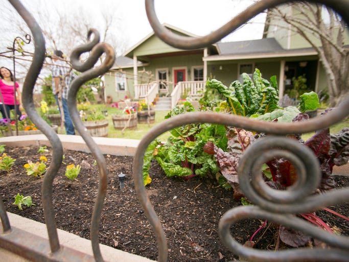 The front of Alejandra and Alfonso Iniguez's garden, which is featured in 2014's Real Gardens for Real People tour in Mesa.