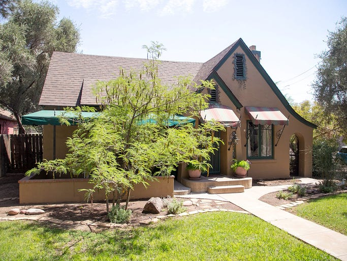 Todd and Donna Himes' Tudor-style home in the F.Q. Story Historic District in Phoenix.
