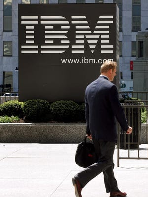 Outside IBM offices in downtown Chicago.