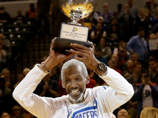 """Former Indiana Pacer great Darnell """"Dr. Dunk"""" Hillman,"""