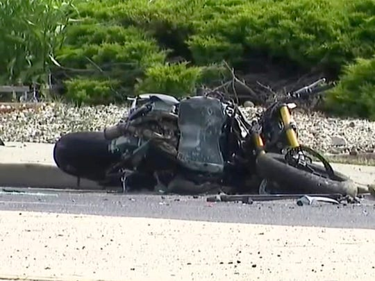 The investigation of a fatal accident between a motorcycle and a small SUV continues on Brick Boulevard in Brick Township Sunday morning, June 24, 2018.