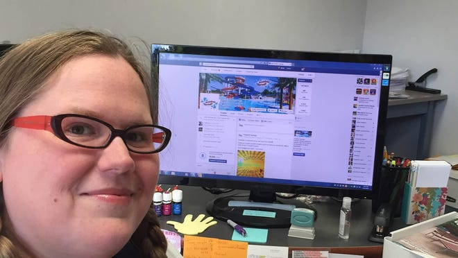 Molly Shields is the social media voice of Greenwood's Freedom Springs water park.