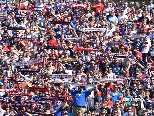 47,662 fans attended a CONCACAF Gold Cup soccer match July 8, 2017, at Nissan Stadium.