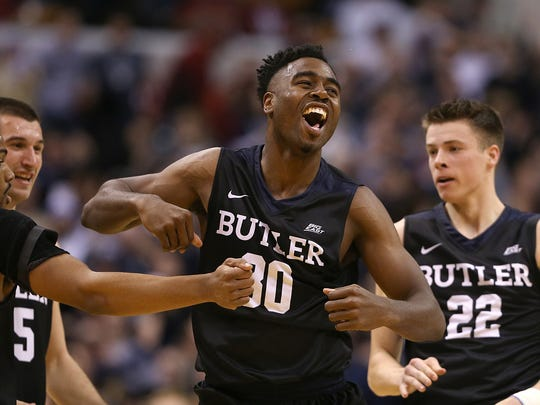 Kelan Martin led Butler to a win over Indiana in the Crossroads Classic.