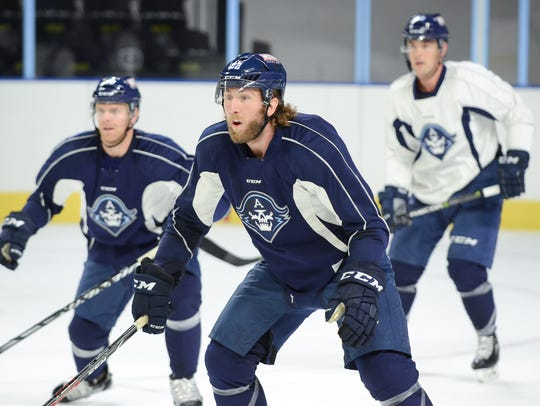 AHL veteran  Pierre-Cedric Labrie, a newcomer to the