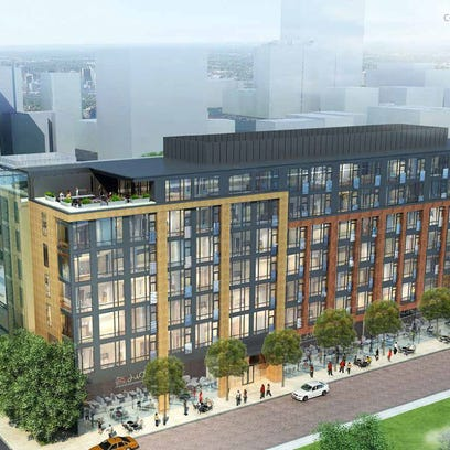 Rendering of The Henry parking garage to go near Little