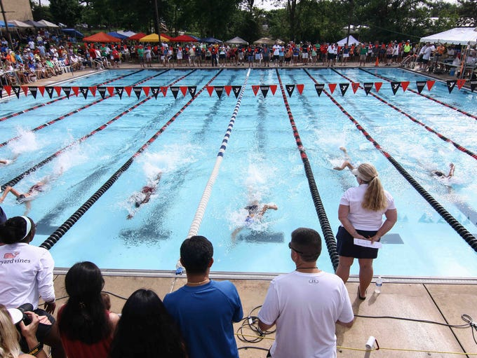 Swimmers compete Saturday in the 50-meter freestyle