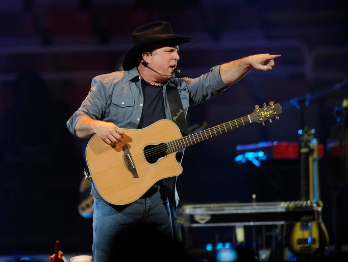 Garth Brooks performs, Friday, February 20, 2015, for