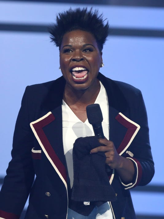 FILE - In this June 25, 2017 file photo, Leslie Jones speaks at the BET Awards in Los Angeles. Jones is joining NBC's coverage of the Pyeongchang Olympics as a contributor, reprising her role from the 2016 Rio de Janeiro Games. The network said Tuesday, Jan. 30, 2018, that Jones will attend Olympic events, meet athletes and spread her enthusiasm for the games on television and online. The games run Feb. 9-25. (Photo by Matt Sayles/Invision/AP, File)