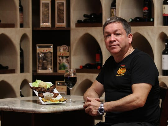 "Restaurant owner and chef Jorge Rouillon, has been serving ""anticuchos"" (skewered beef hearts) to his customers for over 3 years."