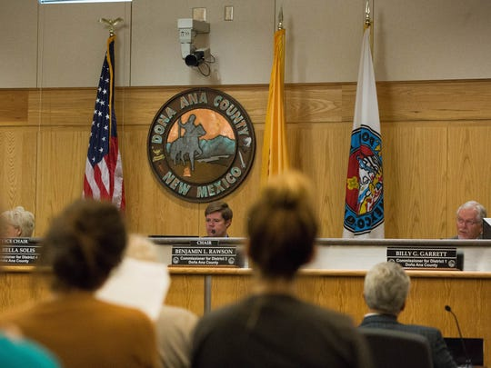 The Doña Ana County Commission approved a settlement agreement between New Mexico Greenhouse Holdings II, LLC, Doña Ana County and the New Mexico Economic Development Department. Tuesday July 10, 2018.
