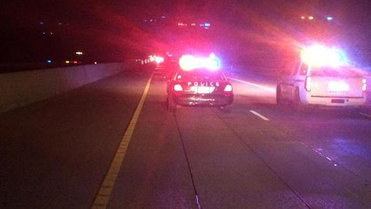 Police closed Interstate 35E at Forreston as they negotiated