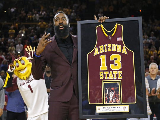 Former ASU and current Houston Rockets star James Harden