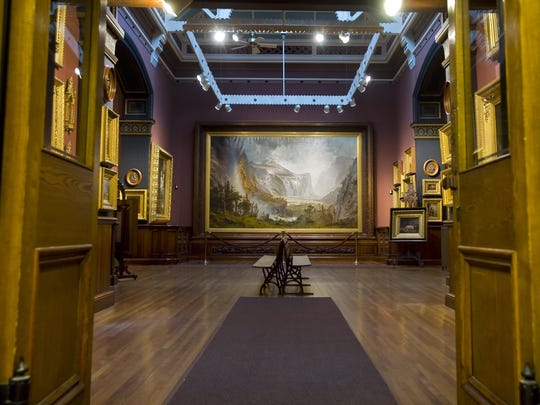 """The Domes of the Yosemite"" by Alfred Bierstadt at The St. Johnsbury Athenaeum on Wednesday, December 21, 2011."