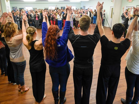 Women's Addiction Recovery Manor residents and dancers