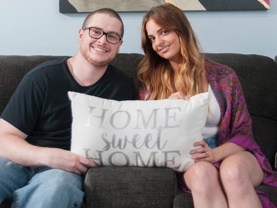 Amanda and Evan Longmore are happy in their Marlton