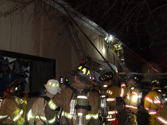 The fire occurred near JDR Metal & Glass in Elmwood Park.