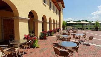 Villa Bellezza winery and vineyards, in Pepin, evokes the atmosphere of a Tuscan village.