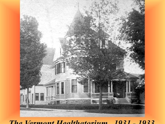 Historic photo from the 1930s of the Vermont Healthatorium in Bristol. It was located in what was known as the William A. Lawrence house located on the corner of North and Spring streets in Bristol.
