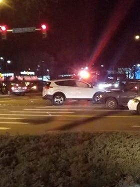 A crash temporarily closed the westbound lanes on Horsetooth Road and northbound lanes on College Avenue. The lanes were reopened  at 7:45 p.m.