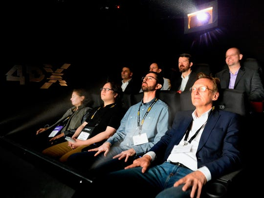 Crowds at CinemaCon check out 4DX.