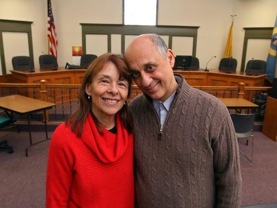 Married couple Beverly and Anthony Pranzatelli serve together on the Bound Brook Borough Council, February 13 2015 in Bound Brook NJ. Kathy Johnson/staff photographer  BRI 0214 Pranzatelli