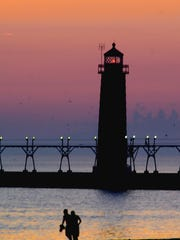 The lighthouse in Grand Haven makes for a classic vista.