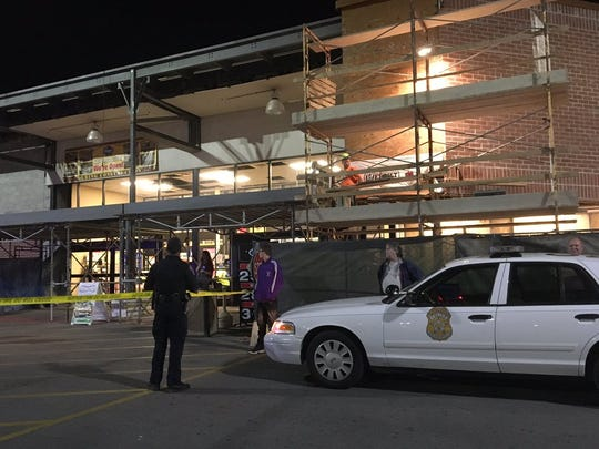 Indianapolis police responded to a shooting at the Kroger on South East Street just after 8:30 p.m. Friday, Oct. 20, 2017.