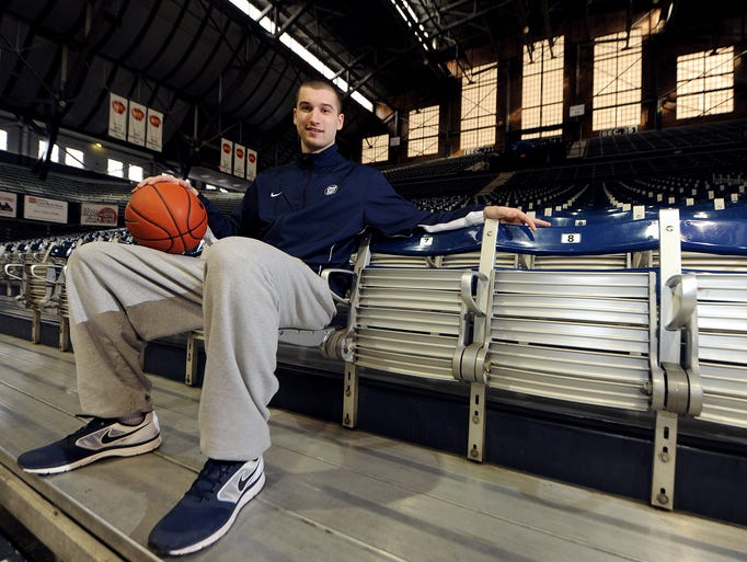 Butler University freshman forward Andrew Chrabascz inside Hinkle Fieldhouse, January 30, 2014, in Indianapolis.