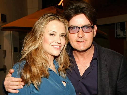 Actor Charlie Sheen (right) and his third wife Brooke
