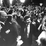 1982: Terry Branstad, 35, defeats Roxanne Conlin to become Iowa's youngest governor.