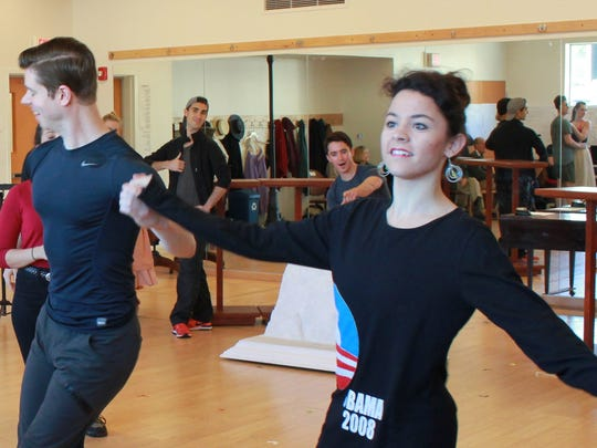 """The cast of """"Mary Poppins"""" rehearses for the Northern"""